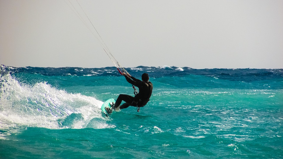 Rekreacja z kitesurfing